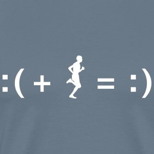 Running Makes You Happy T-Shirts - Men's Premium T-Shirt