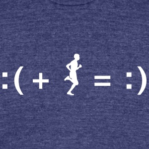 Running Makes You Happy T-Shirts - Unisex Tri-Blend T-Shirt by American Apparel