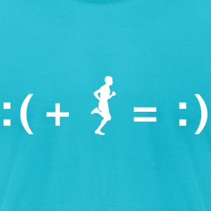 Running Makes You Happy T-Shirts - Men's T-Shirt by American Apparel