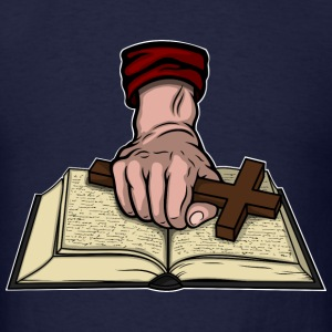 Bible and Cross T-Shirts - Men's T-Shirt