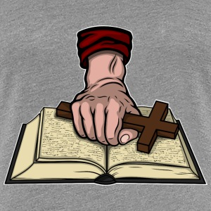 Bible and Cross Women's T-Shirts - Women's Premium T-Shirt