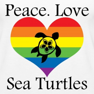 Peace. Love. Sea Turtles - Women's Premium Tank Top