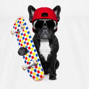bulldog skateboard - Men's Premium T-Shirt