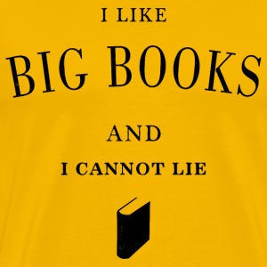 I like big books - Men's Premium T-Shirt