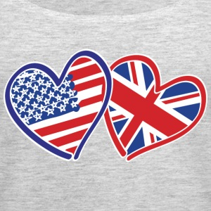 USA and UK Patriotic Heart Flags - Women's Premium Tank Top