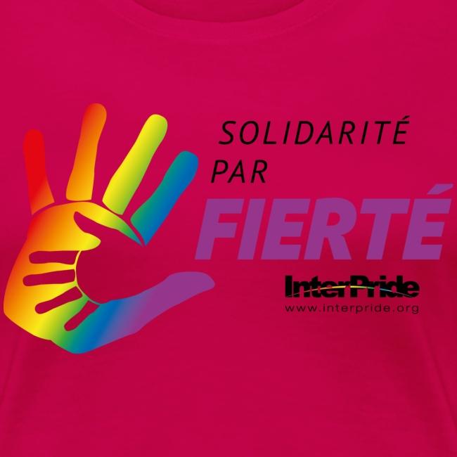 Women's Premium T-Shirt (French) - Lettre Noir