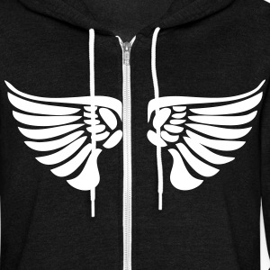 Wings Zip Hoodies & Jackets - Unisex Fleece Zip Hoodie by American Apparel
