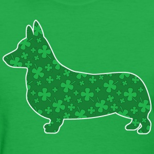 Corgi, St. Patrick's Day Shamrocks - Women's T-Shirt