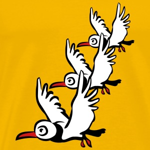 Bird seagull flying T-Shirts - Men's Premium T-Shirt