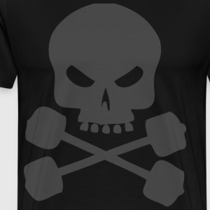 Skull and Barbells T-Shirts - Men's Premium T-Shirt