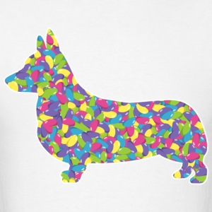 Corgi, Easter Jellybeans - Men's T-Shirt