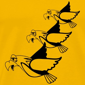 Bird fly formation fun T-Shirts - Men's Premium T-Shirt