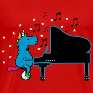 Unicycling Piano Playing UNICORN :) T-Shirts - Men's Premium T-Shirt