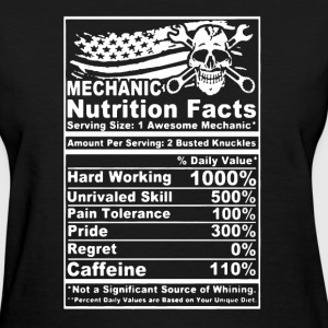 Mechanic Nutrition Facts - Women's T-Shirt