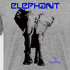elephant by hugoray.png T-Shirts - Men's Premium T-Shirt