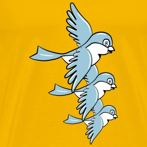 Bird fly formation sweet small T-Shirts - Men's Premium T-Shirt