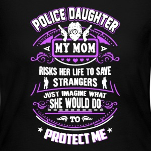 Police Daughter My Mom - Women's Long Sleeve Jersey T-Shirt