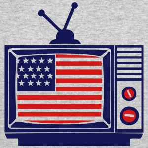 american television flag united states Long Sleeve Shirts - Crewneck Sweatshirt