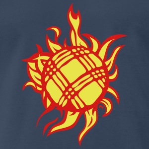 petanque ball fire flame game T-Shirts - Men's Premium T-Shirt