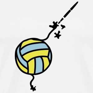 volleyball pencil drawing fountain pen T-Shirts - Men's Premium T-Shirt