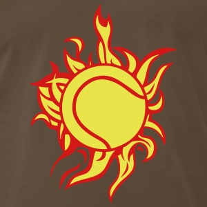 tennis ball flame fire T-Shirts - Men's Premium T-Shirt