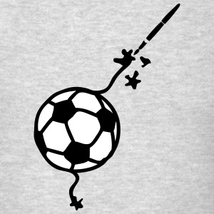 soccer pencil drawing fountain pen ink T-Shirts - Men's T-Shirt
