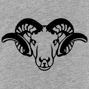 ram horn head animal 709232 Kids' Shirts - Kids' Premium T-Shirt