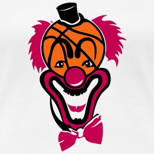 clown nose red basketball ball T-Shirts - Women's Premium T-Shirt