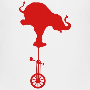 elephant unicycle bike balance 2 Kids' Shirts - Kids' Premium T-Shirt