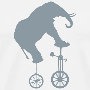 elephant unicycle balance vol 1 T-Shirts - Men's Premium T-Shirt