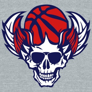 basketball skull wing dead 705 T-Shirts - Unisex Tri-Blend T-Shirt by American Apparel