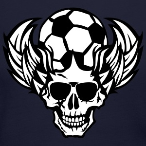 soccer dead skull wings 705 Long Sleeve Shirts - Women's Long Sleeve Jersey T-Shirt