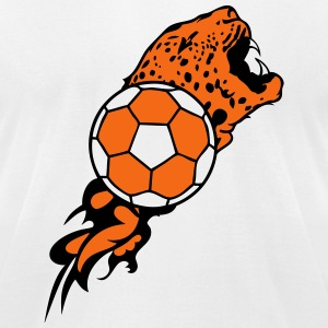 leopard handball ball flame logo 1 T-Shirts - Men's T-Shirt by American Apparel