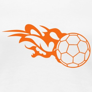 flame handball ball logo 3 T-Shirts - Women's Premium T-Shirt