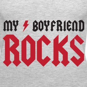 My Boyfriend Rocks Tanks - Women's Premium Tank Top