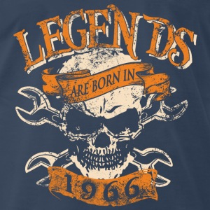 Born in 1966 - Legends - Skull T-shirt - Men's Premium T-Shirt