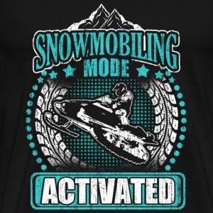 Snowmobiling mode - Activated - Men's Premium T-Shirt