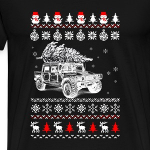 Christmas car and pine - Ugly sweater - Men's Premium T-Shirt