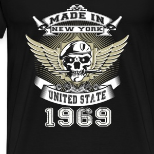 Made in New York United State 1969 - Men's Premium T-Shirt