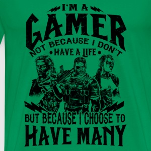 Gamer - I choose to have many lives - Men's Premium T-Shirt