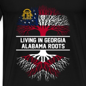 Made in Alabama - Live in Georgia - Men's Premium T-Shirt