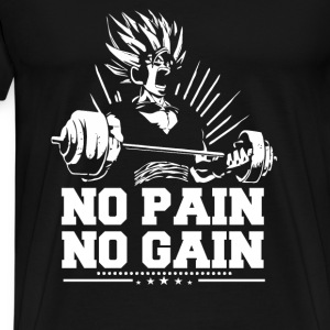 Dragon ball fan - No pain no gain - Men's Premium T-Shirt