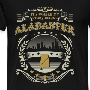 Alabaster it's where my story begins - Men's Premium T-Shirt