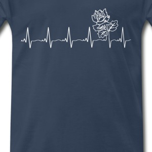 Attractive rose - my heartbeat is you - Men's Premium T-Shirt