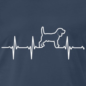Beagle dog - My heartbeat is you - Men's Premium T-Shirt
