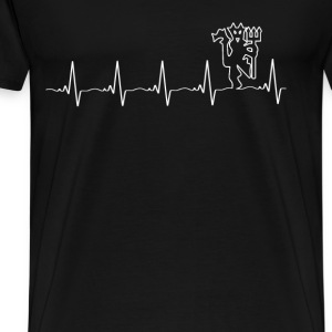 Manchester United - My heartbeat is the Red Devil - Men's Premium T-Shirt
