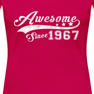 Born in 1967 - Awesome black T-shirt - Women's Premium T-Shirt