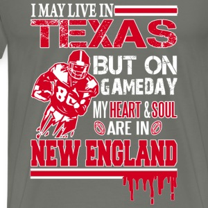 Texas Rugby lover - Heart and soul in New England - Men's Premium T-Shirt