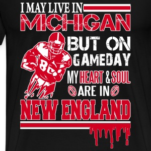 Michigan rugby fan - my heart and soul - Men's Premium T-Shirt