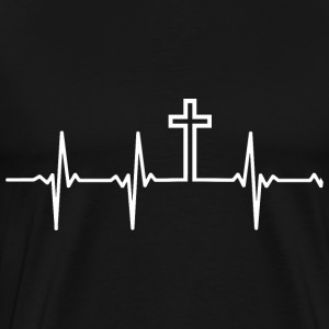 Christian - My heartbeat is the Cross - Men's Premium T-Shirt